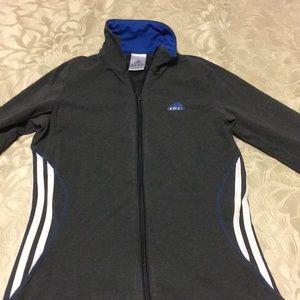 Adidas small grey jersey zip-up